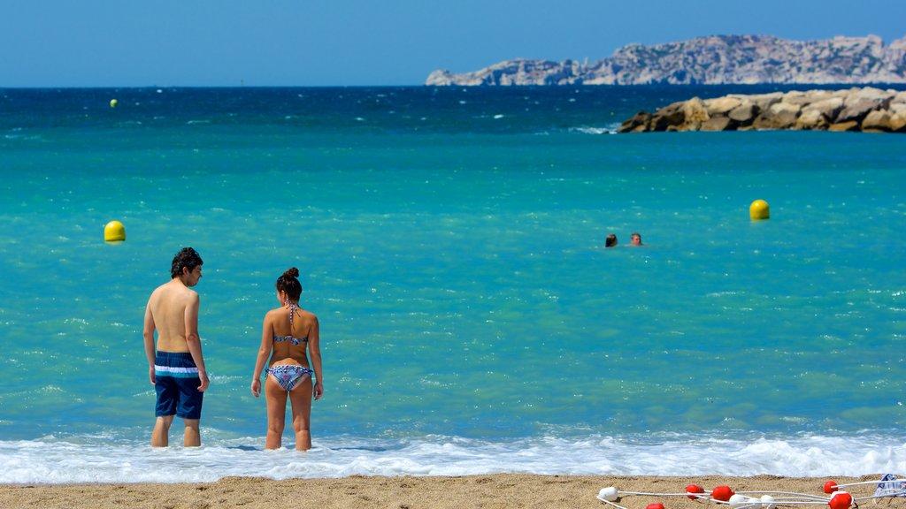 Prado Beach featuring a sandy beach, swimming and general coastal views