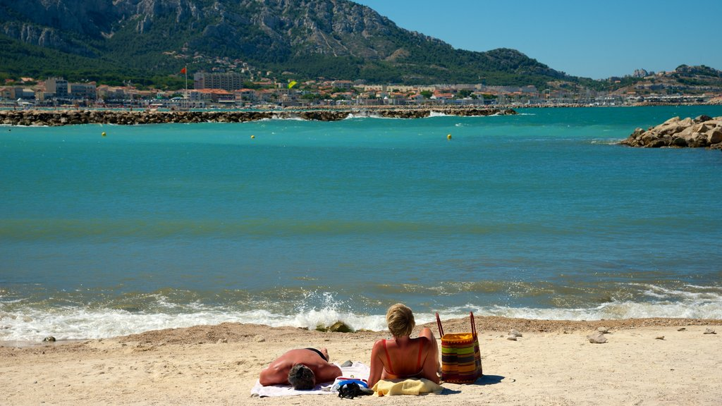 Borely Beach which includes general coastal views and a sandy beach as well as a couple
