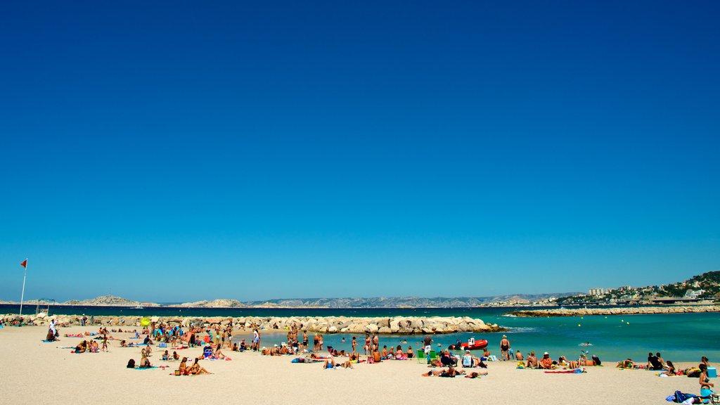 Borely Beach featuring a sandy beach and general coastal views