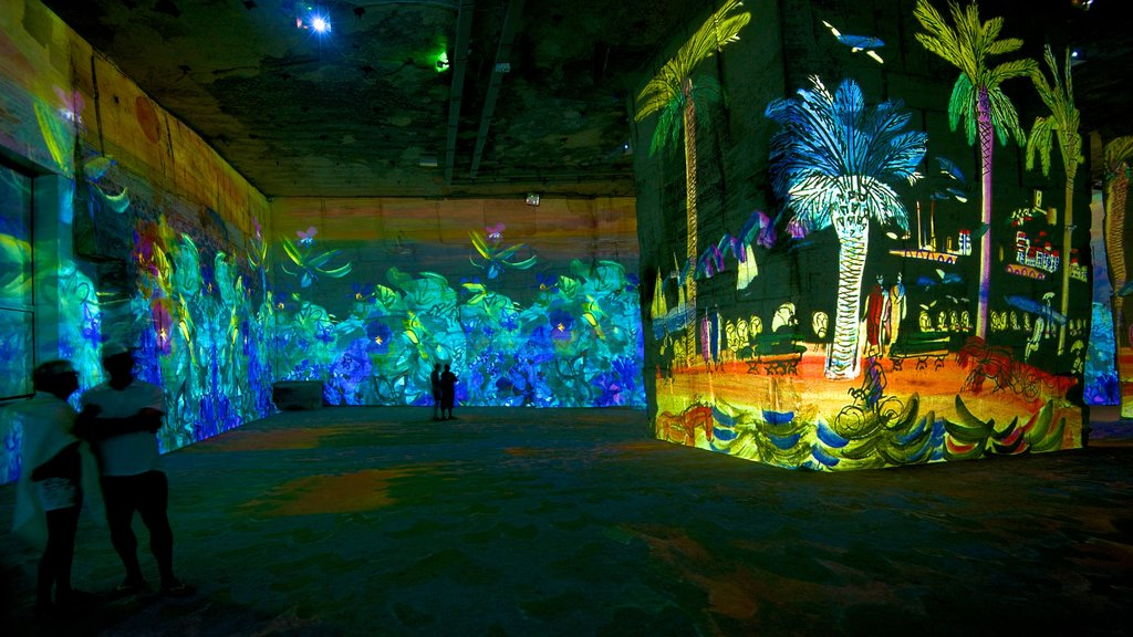 Carrieres de Lumieres which includes art, a church or cathedral and interior views