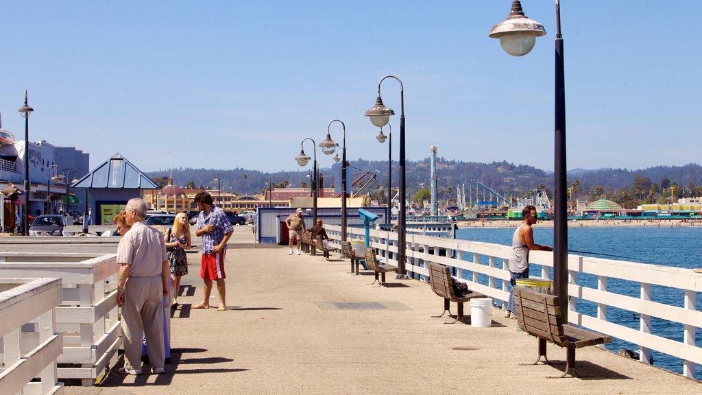 Santa Cruz que incluye una ciudad costera, vistas y una bahía o puerto