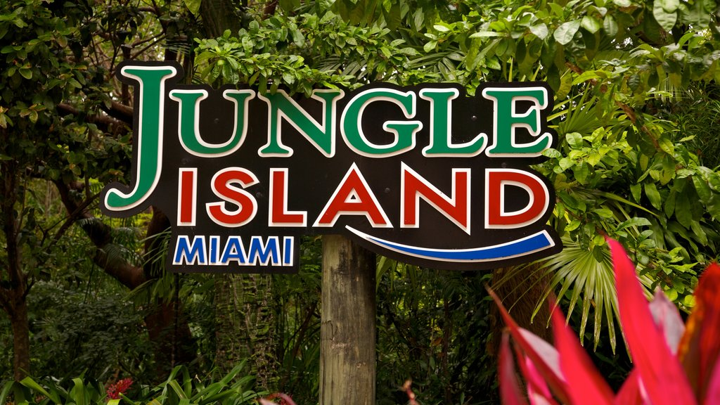 Jungle Island which includes signage