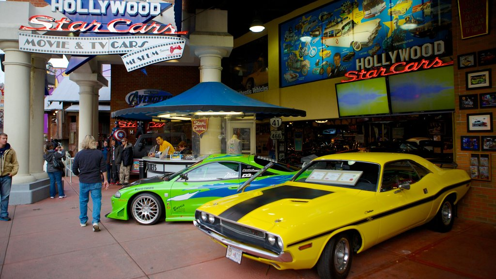 Hollywood Star Cars Museum showing interior views