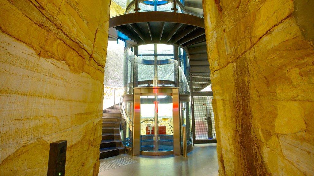 Museo de Arte Antiguo y Contemporáneo ofreciendo arquitectura moderna y vistas interiores