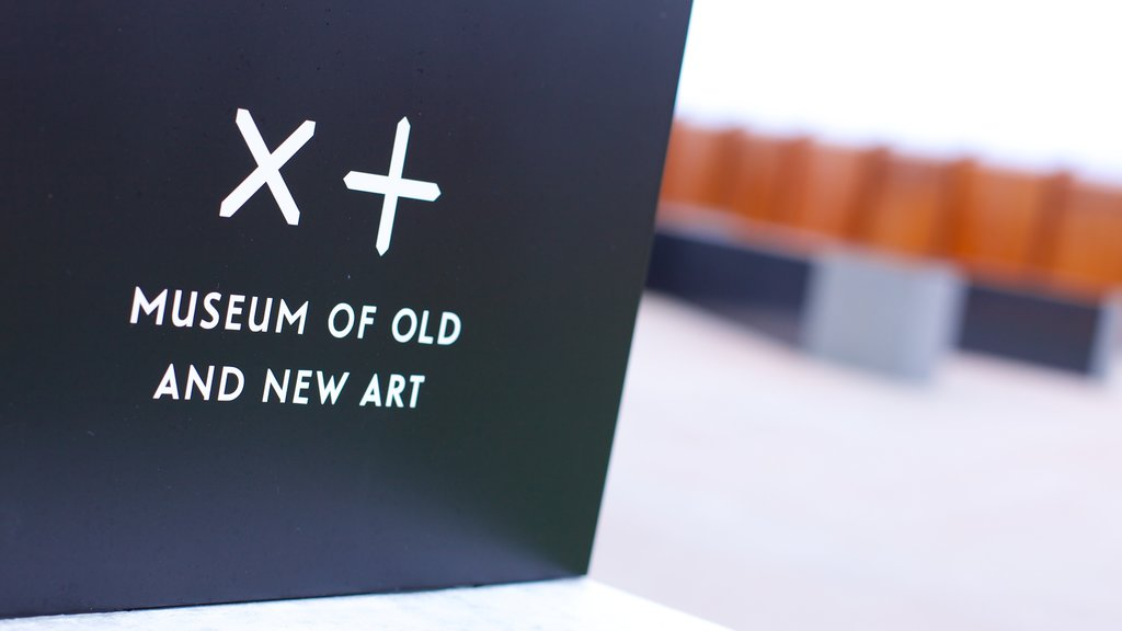 Museum of Old and New Art featuring signage