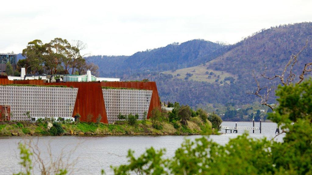 Museo de Arte Antiguo y Contemporáneo que incluye un río o arroyo, arquitectura moderna y arte