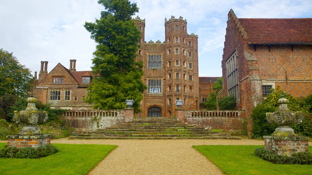 Layer Marney Tower which includes chateau or palace, a park and heritage elements