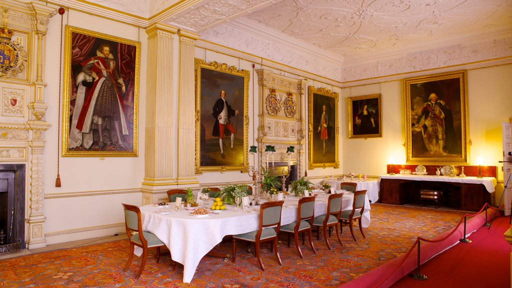 Audley End House showing heritage architecture, a house and heritage elements