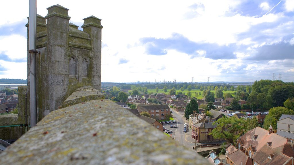 Waltham Abbey Church which includes skyline, a church or cathedral and a small town or village