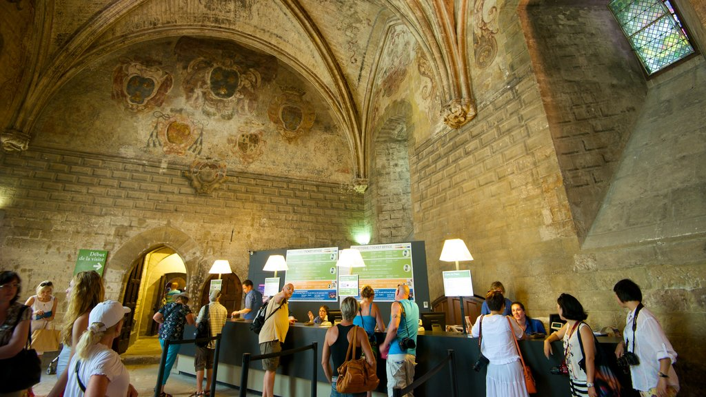 Palais des Papes showing interior views, heritage architecture and heritage elements