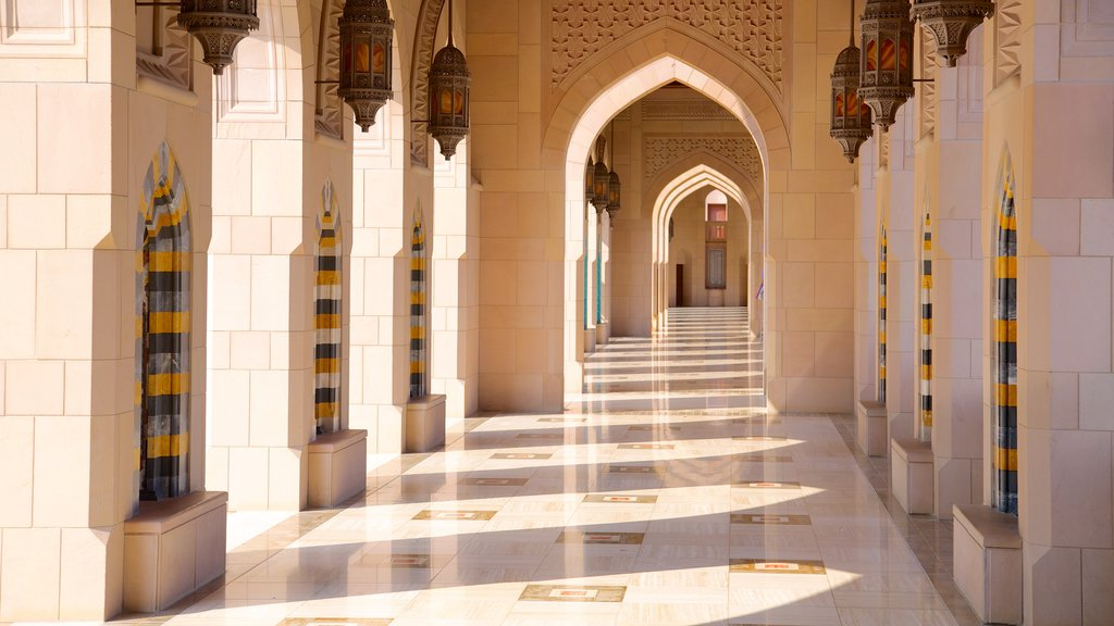 Muscat which includes religious aspects and a mosque