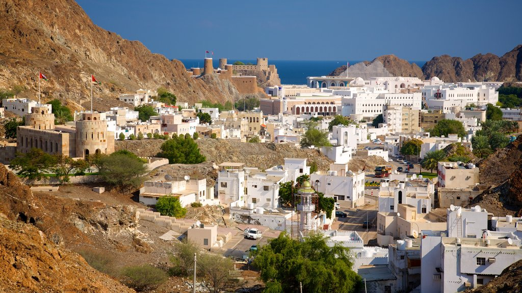 Muscat featuring a coastal town
