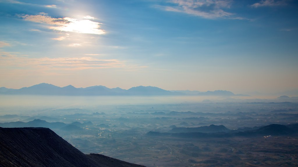 Muscat showing landscape views, mountains and a sunset