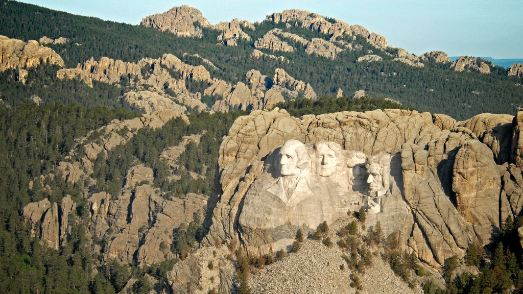 Mount Rushmore featuring a monument and mountains