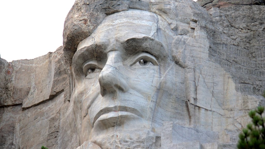 Mount Rushmore featuring outdoor art and art