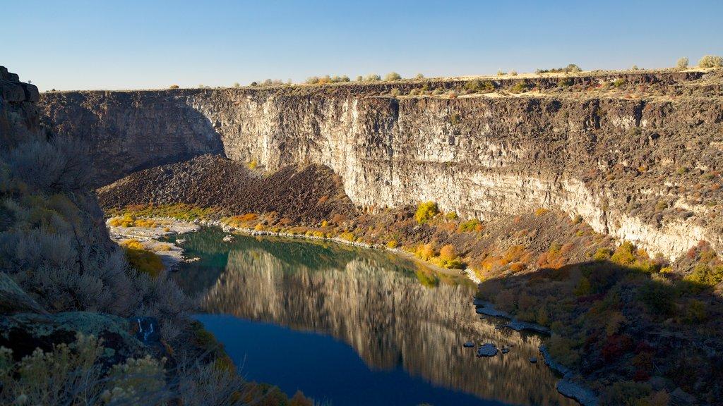 Twin Falls que incluye un barranco o cañón y un río o arroyo