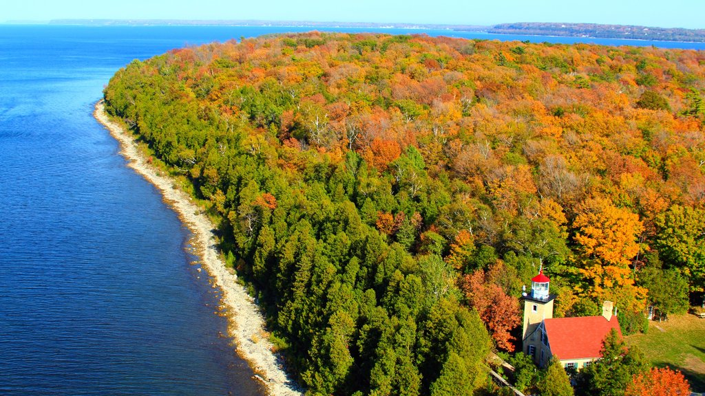 Door Peninsula which includes forest scenes, fall colors and general coastal views