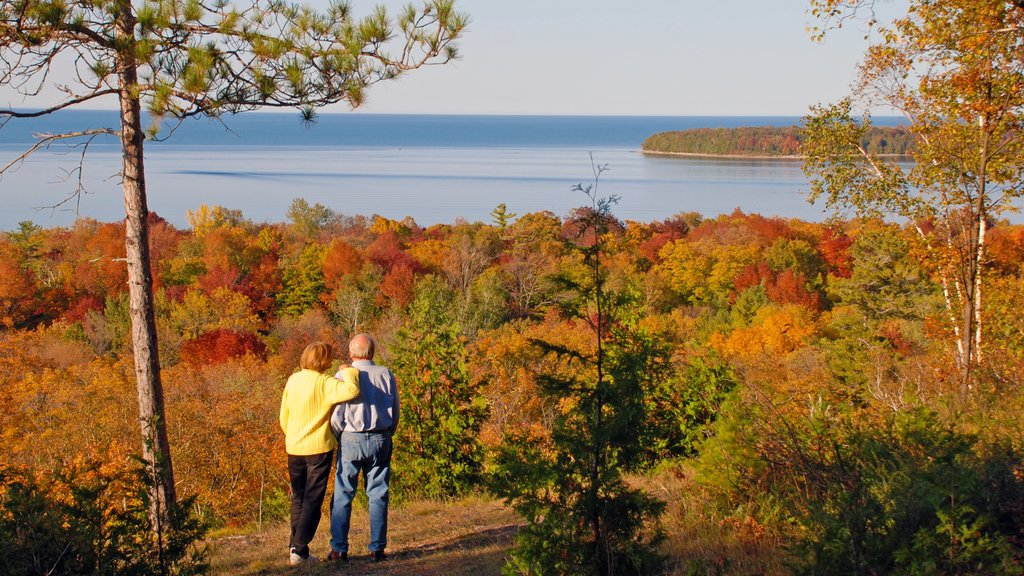 Door Peninsula showing forest scenes, fall colors and general coastal views