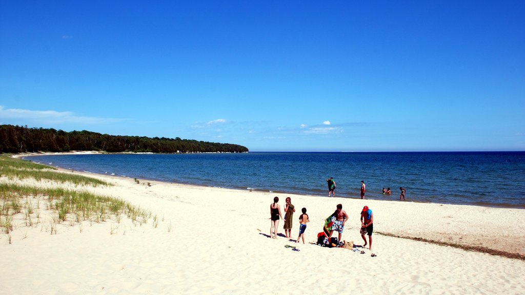 Door Peninsula featuring a sandy beach and general coastal views