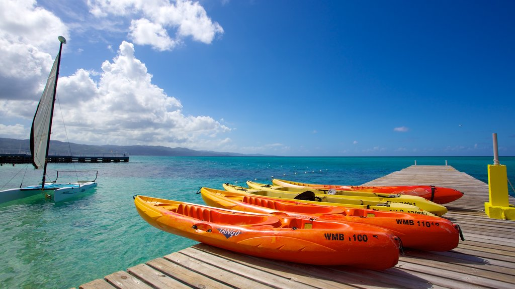 Montego Bay which includes kayaking or canoeing, tropical scenes and general coastal views