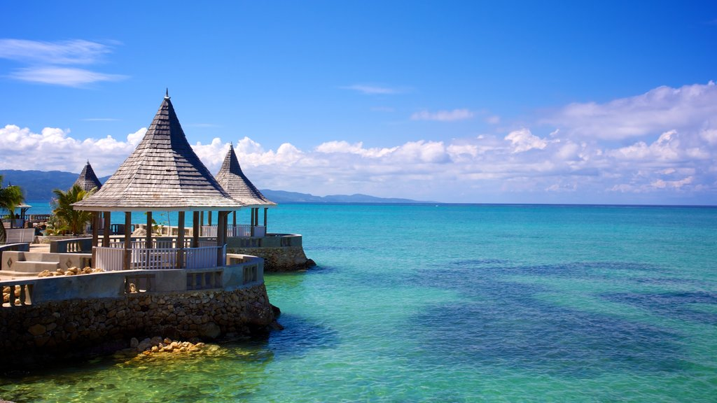 Montego Bay featuring views, tropical scenes and rocky coastline