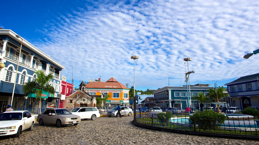 Sam Sharpe Square which includes a square or plaza