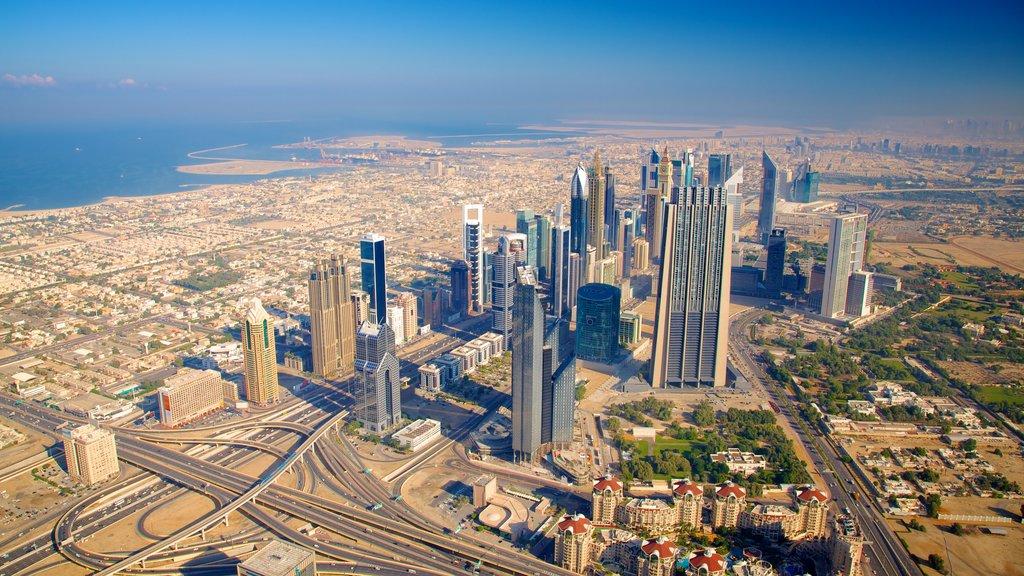 Burj Khalifa which includes a city, city views and a high rise building