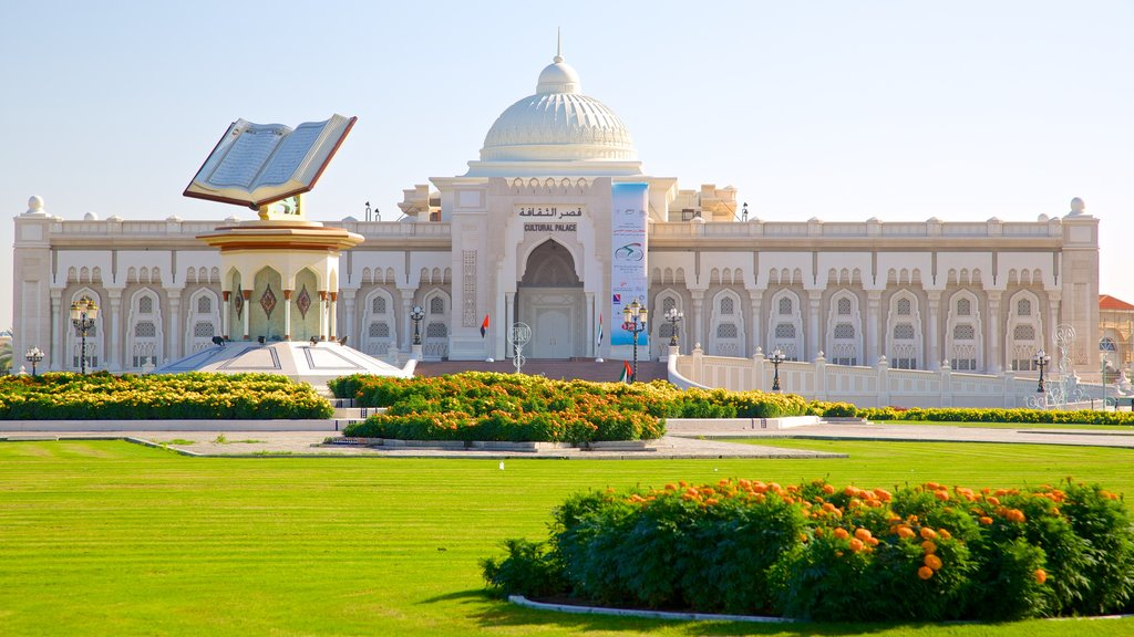 Sharjah featuring heritage architecture, heritage elements and flowers