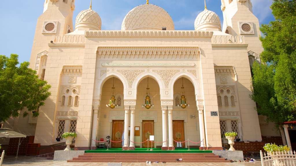 Jumeirah Mosque which includes heritage architecture and a mosque