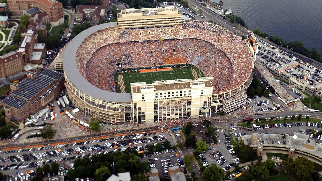 Knoxville featuring a sporting event and a city