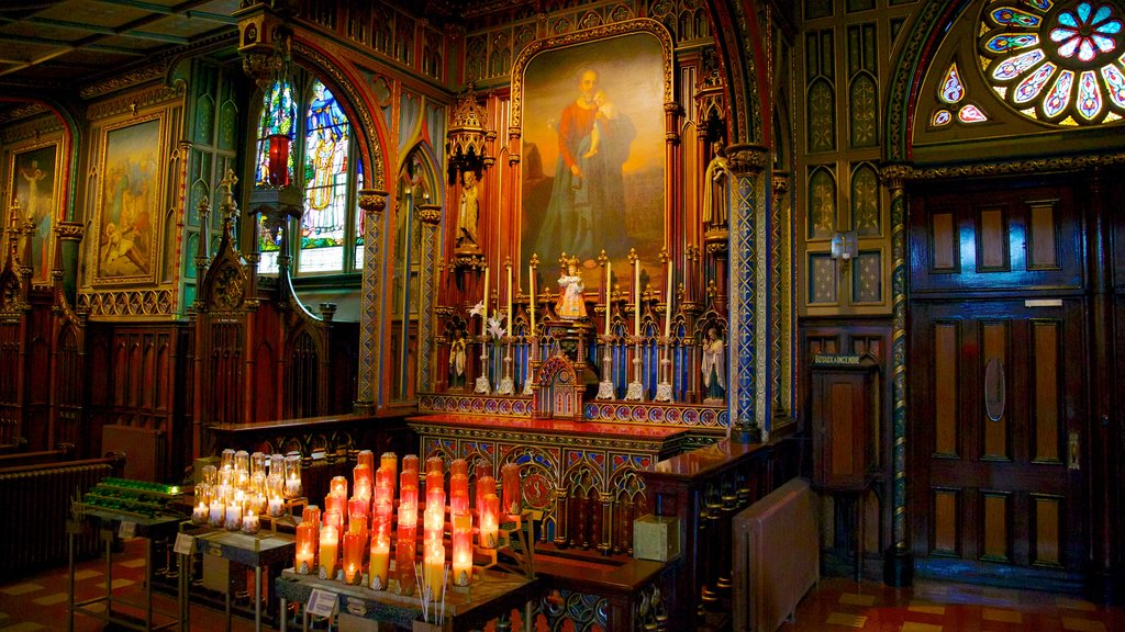 Notre Dame Basilica featuring interior views, a church or cathedral and heritage architecture
