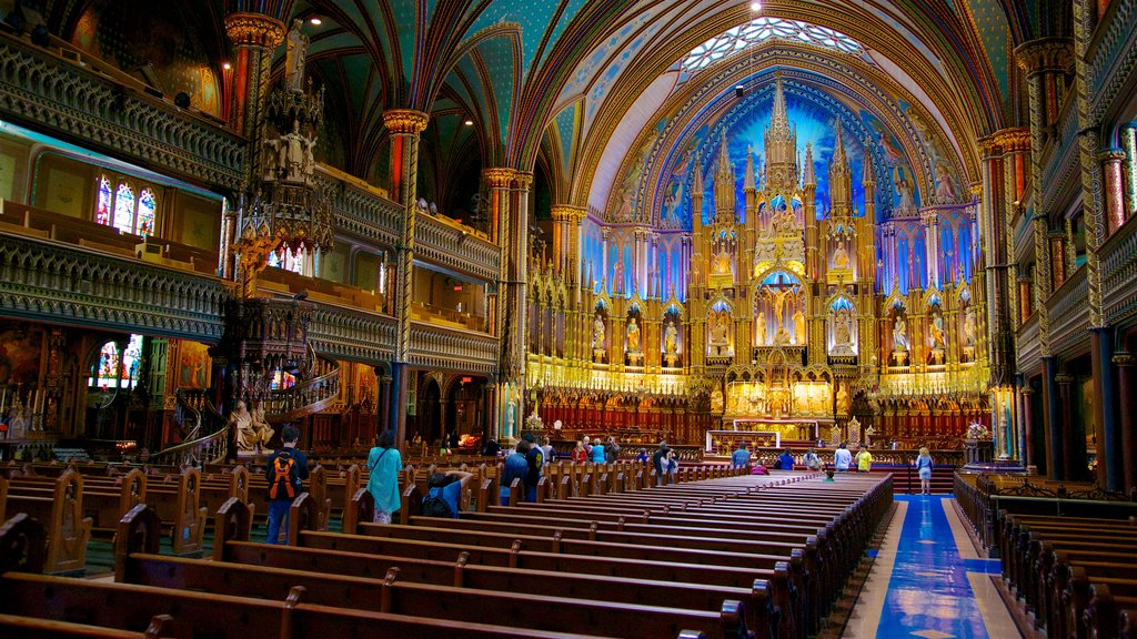 Notre Dame Basilica which includes heritage architecture, interior views and a church or cathedral
