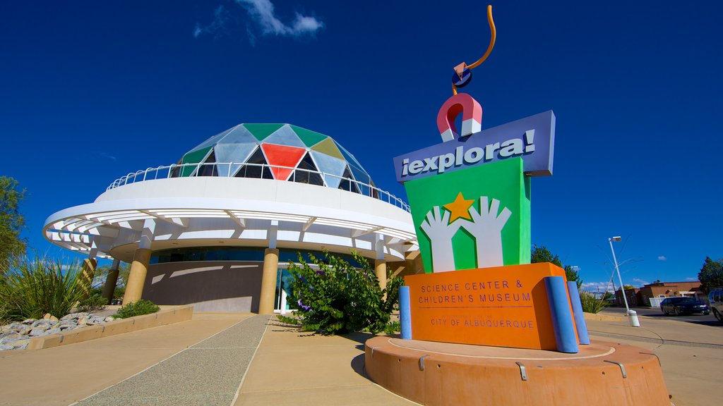Albuquerque which includes signage and modern architecture