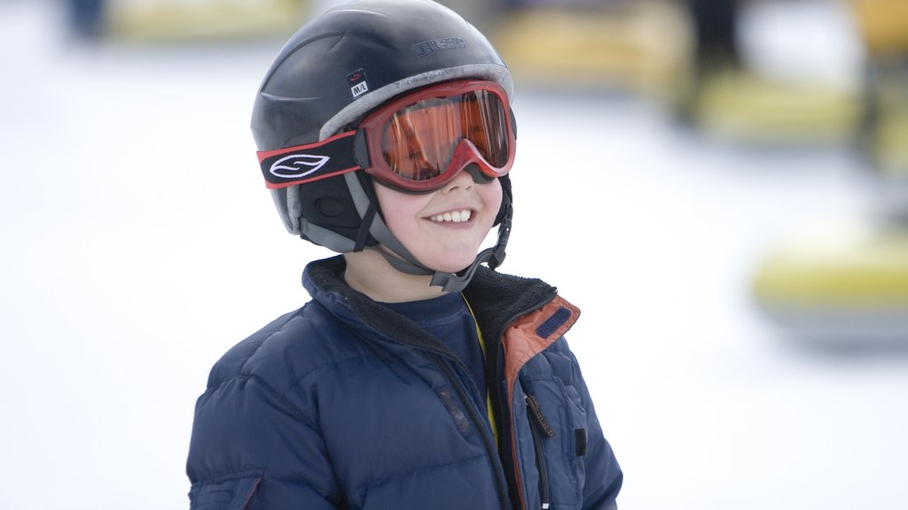 Vail Ski Resort as well as an individual child