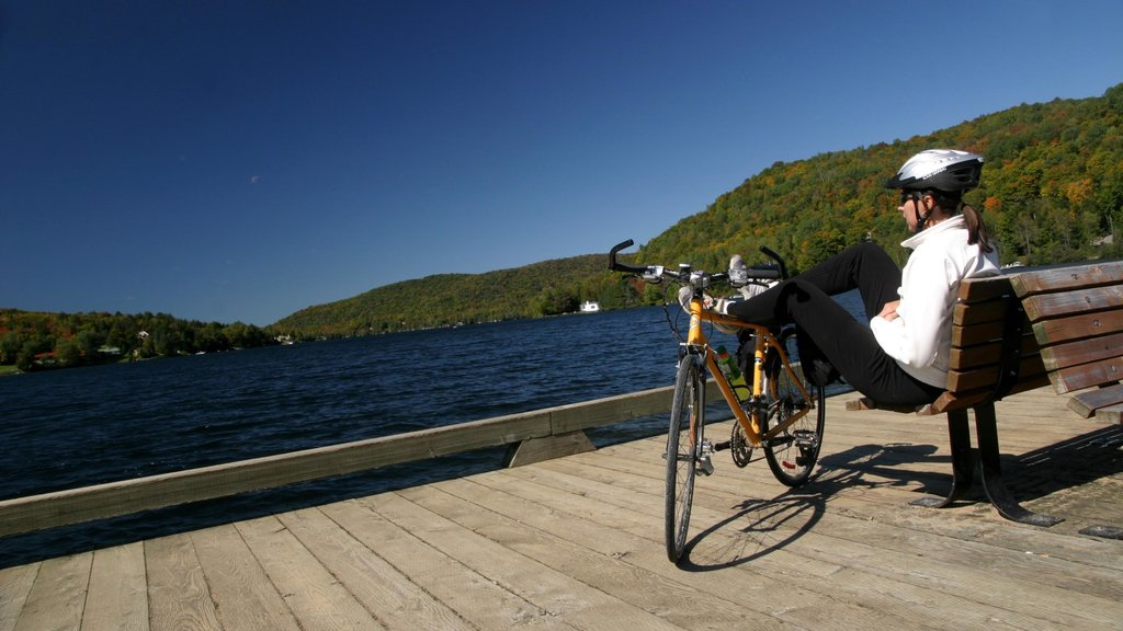 Mont-Tremblant featuring cycling, views and a lake or waterhole