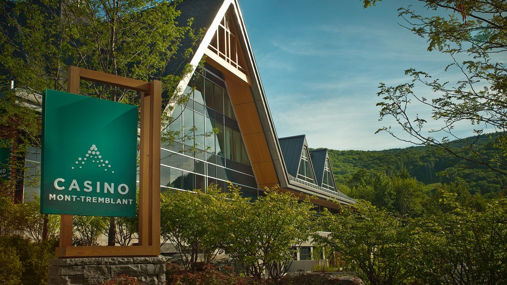 Mont-Tremblant which includes a casino and signage