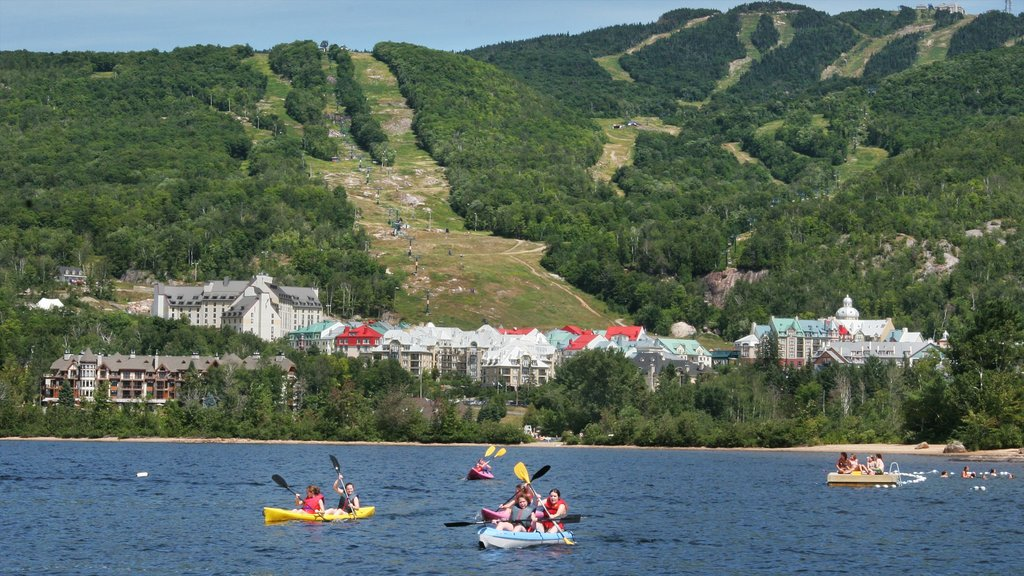 Mont-Tremblant featuring a coastal town, general coastal views and kayaking or canoeing
