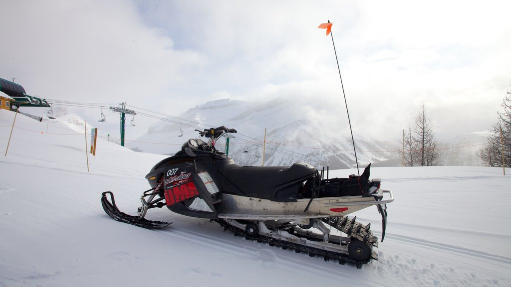 Lake Louise featuring snowmobiling and snow