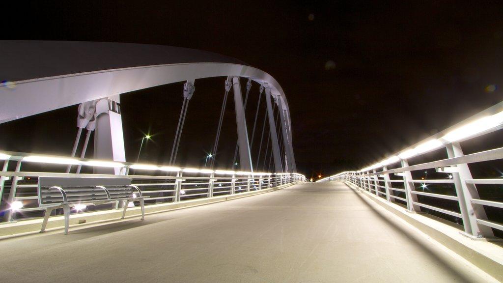 Columbus showing a bridge and night scenes