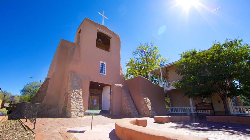 Santa Fe which includes religious elements and a church or cathedral
