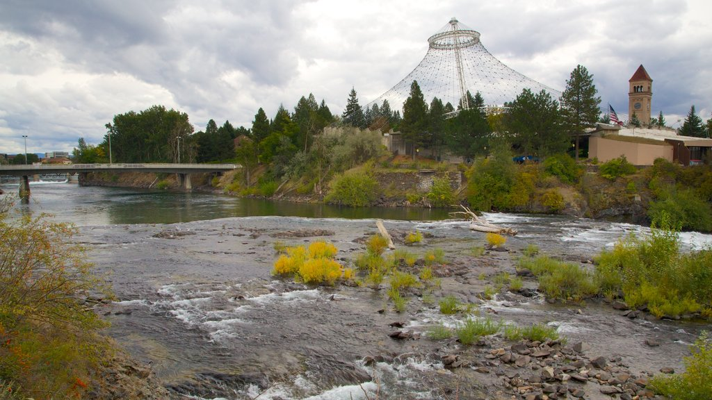 Spokane which includes a river or creek and a bridge
