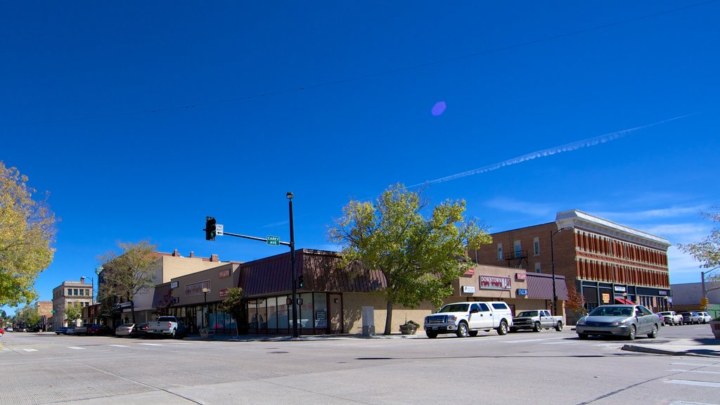 Cheyenne featuring a small town or village and street scenes