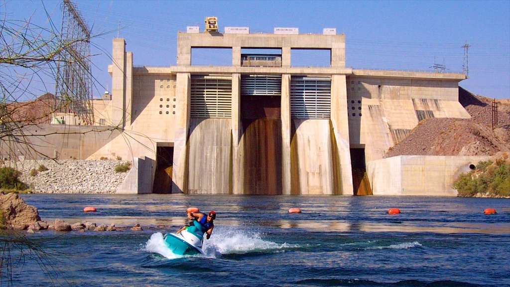 Bullhead City which includes jet skiing and a lake or waterhole as well as an individual male
