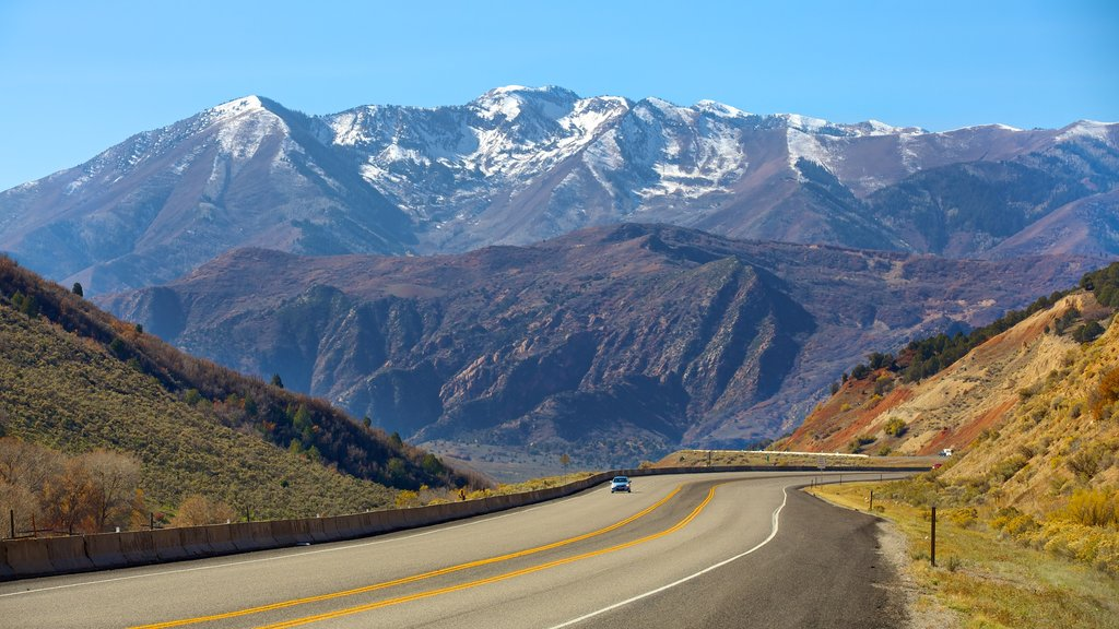 Provo which includes mountains and tranquil scenes