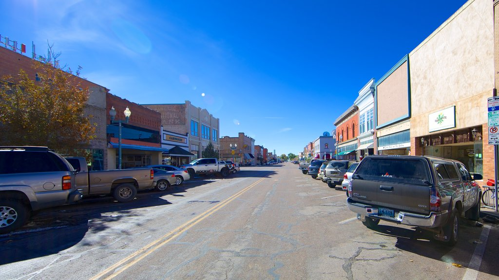 Laramie which includes street scenes and a small town or village