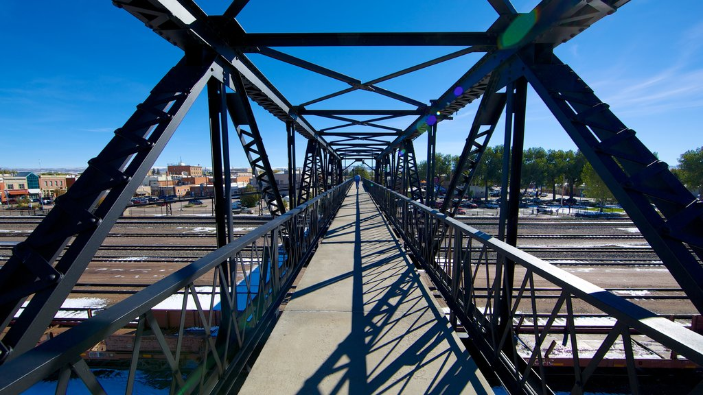 Laramie featuring railway items and a bridge