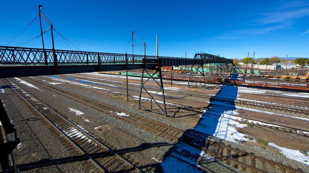 Laramie showing railway items and a bridge