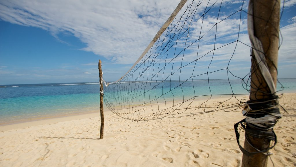 Upolu featuring a sandy beach