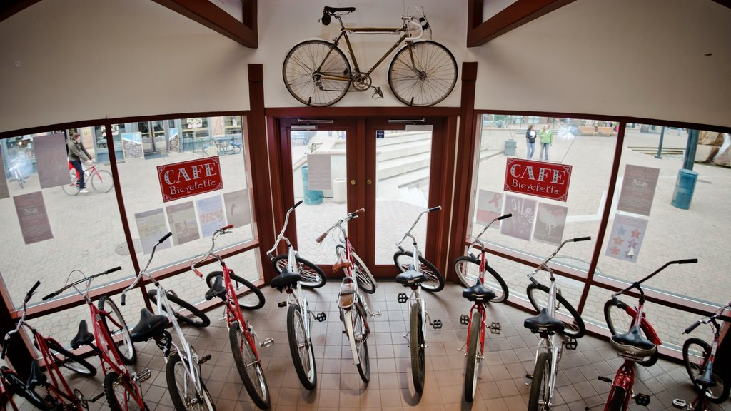 Fort Collins featuring interior views and cycling