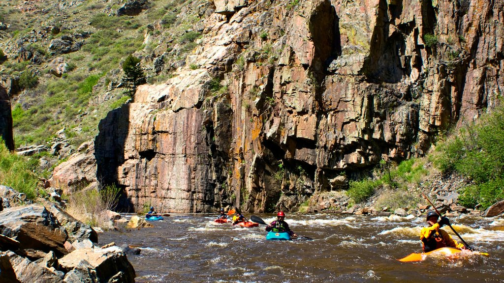 Fort Collins featuring rapids, kayaking or canoeing and a gorge or canyon